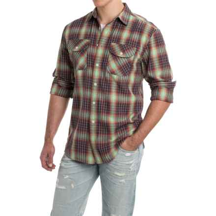 Pendleton Beach Shack Shirt - Long Sleeve (For Men) in Sage/Navy/Brick Ombre - Closeouts