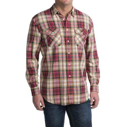 Pendleton Beach Shack Shirt - Long Sleeve (For Men) in Sand/Magenta - Closeouts