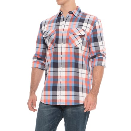 03a8f66cee Pendleton Beach Shack Twill Shirt - Long Sleeve (For Men) in Blue Coral