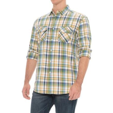 290118a1 Pendleton Beach Shack Twill Shirt - Long Sleeve (For Men) in Green/Yellow