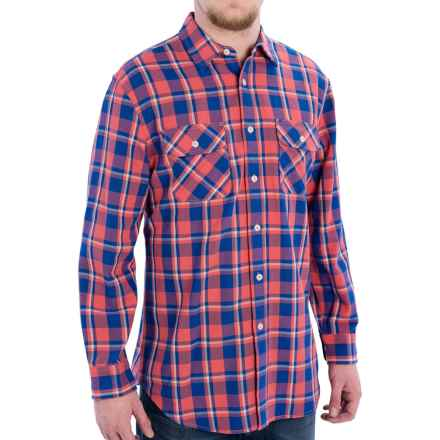 Pendleton Beach Shake Shirt - Button Front, Long Sleeve (For Men) in Salmonberry/Bright Blue Plaid - Closeouts