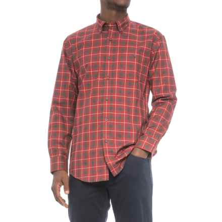 Pendleton Belmont Shirt - Long Sleeve (For Men) in Crimson Check - Closeouts