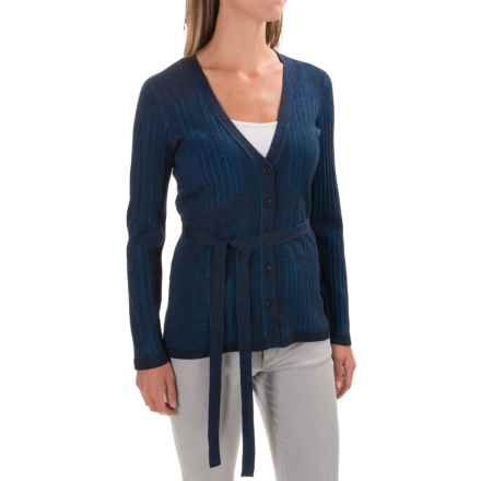Pendleton Belted Cardigan Sweater - Silk Blend (For Women) in Navy - Closeouts