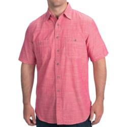Pendleton Berkeley Chambray Shirt - Short Sleeve (For Men) in Raspberry