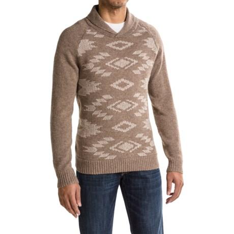 Pendleton Birdseye Shawl-Collar Sweater (For Men) in Birdseye Motif