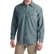 Pendleton Blaine Button-Front Shirt - Virgin Wool, Long Sleeve (For Men) in Blue Chambray - Closeouts