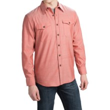 Pendleton Blaine Wool Fitted Chambray Shirt - Long Sleeve (For Men) in Red Chambray - Closeouts