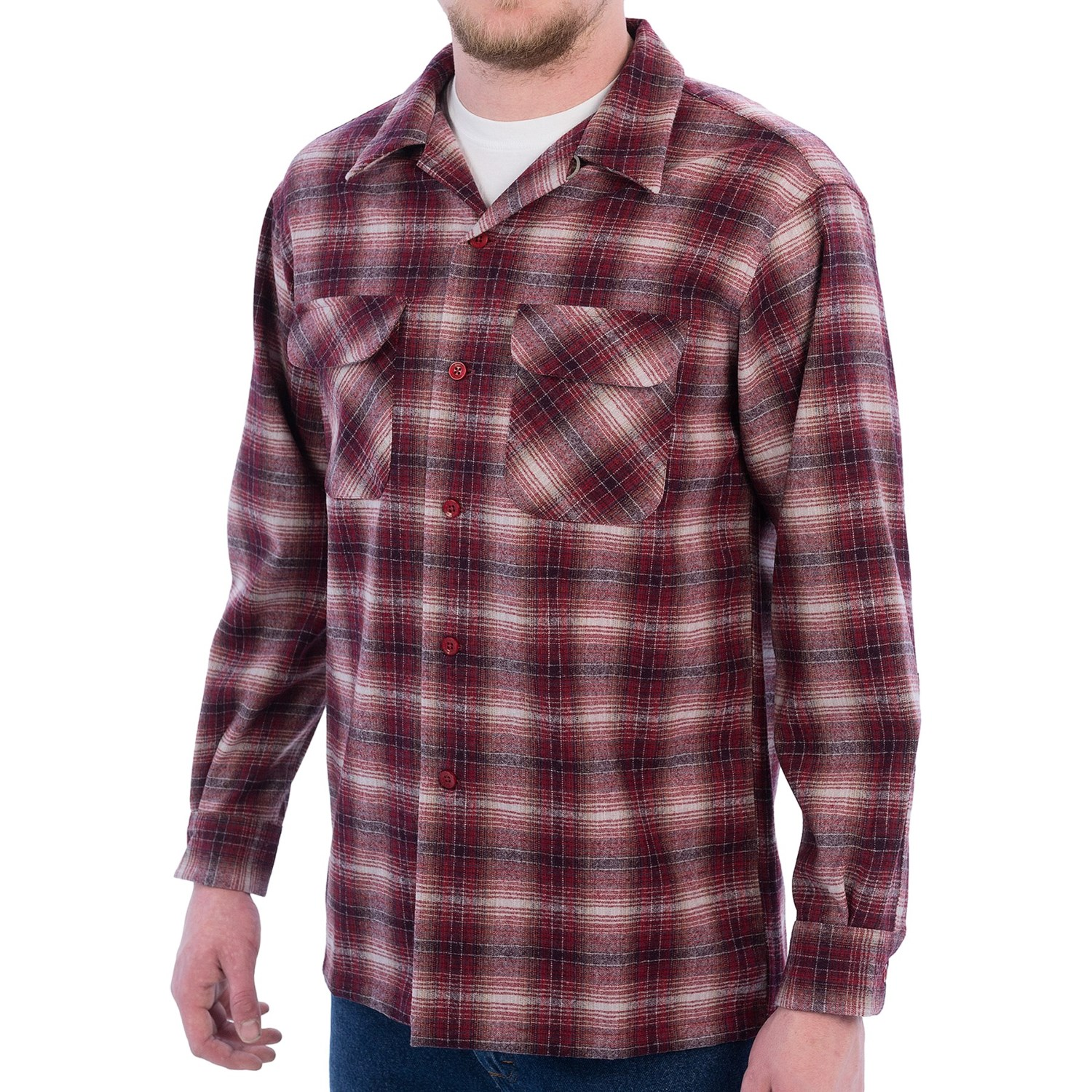 Pendleton board shirt for men save 41 for Mens red wool shirt