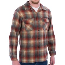Pendleton Board Shirt - Wool, Long Sleeve (For Men) in Red/Tan/Charcoal Ombre - Closeouts