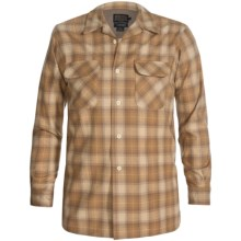 Pendleton Board Shirt - Wool, Long Sleeve (For Men) in Tan Multi Plaid - Closeouts