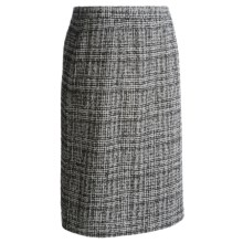 Pendleton Boucle Virgin Wool Pencil Skirt (For Plus Size Women) in Black/Ivory - Closeouts
