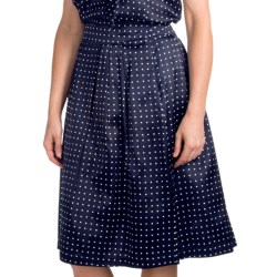 Pendleton Boulevard Skirt - Silk-Cotton (For Women) in Navy Dot