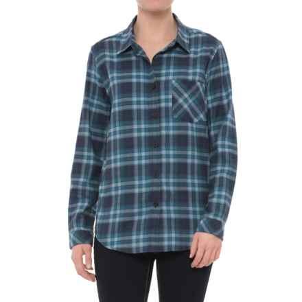 Pendleton Boyfriend Flannel Shirt - Long Sleeve (For Women) in Blue Plaid - Closeouts