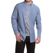 Pendleton Bridgeport Cotton Shirt - Button-Down Collar, Long Sleeve (For Men) in Blue Check - Closeouts