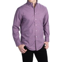 Pendleton Bridgeport Cotton Shirt - Button-Down Collar, Long Sleeve (For Men) in Purple Windowpane - Closeouts