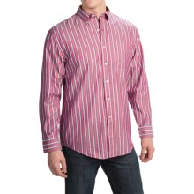 Pendleton Bridgeport Cotton Shirt - Button-Down Collar, Long Sleeve (For Men) in Red Multi Stripe - Closeouts