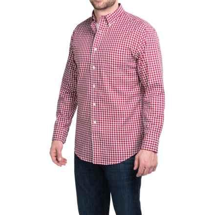 Pendleton Bridgeport Cotton Shirt - Button-Down Collar, Long Sleeve (For Men) in Rose Check - Closeouts