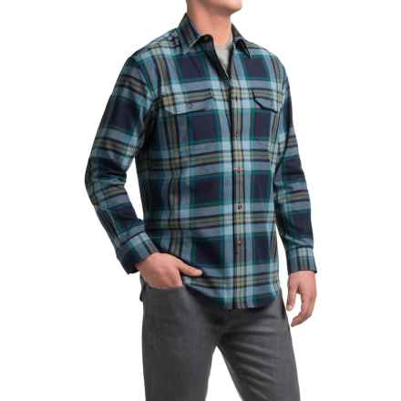 Pendleton Bridger Shirt - Long Sleeve (For Men) in Blue Plaid - Closeouts