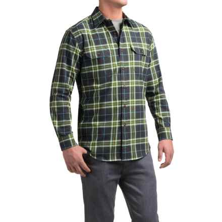 Pendleton Bridger Shirt - Long Sleeve (For Men) in Green Plaid - Closeouts