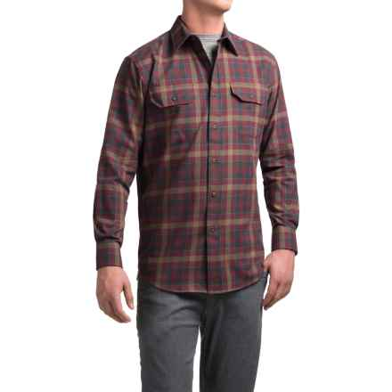 Pendleton Bridger Shirt - Long Sleeve (For Men) in Maroon Plaid - Closeouts