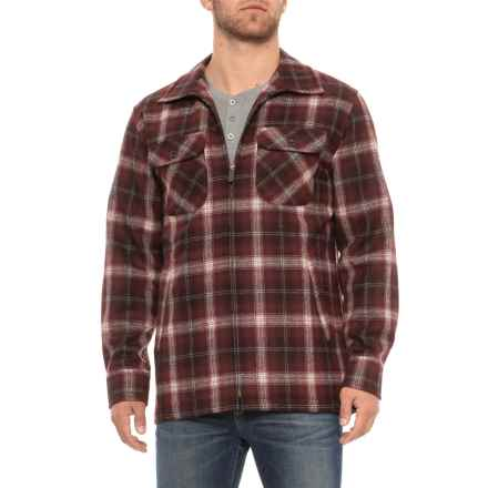 Pendleton Brightwood Zip Jacket - Virgin Wool (For Men) in Maroon Ombre - Overstock