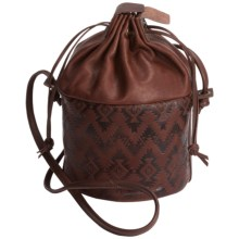 Pendleton Bucket Purse - Leather (For Women) in Dark Brown - Closeouts