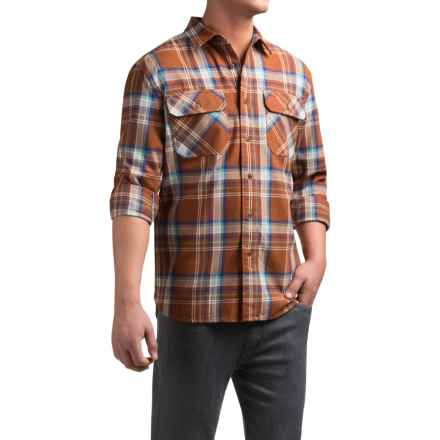 Pendleton Burnside Flannel Shirt - Long Sleeve (For Men) in Brown Plaid - Closeouts
