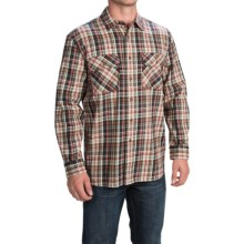 Pendleton Burnside Flannel Shirt - Long Sleeve (For Men) in Green/Red Plaid - Closeouts