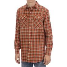 Pendleton Burnside Flannel Shirt - Long Sleeve (For Men) in Orange/Bronze Plaid - Closeouts