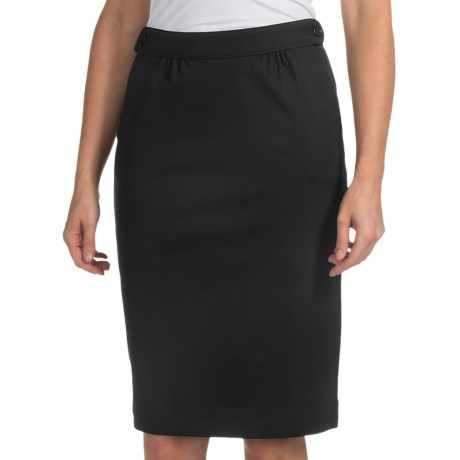 Pendleton Cafe Skirt - Ponte Knit (For Women) in Black