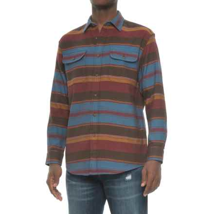 Pendleton Camber Stripe Shirt Jacket (For Men) in Brown/Berry Stripe - Closeouts