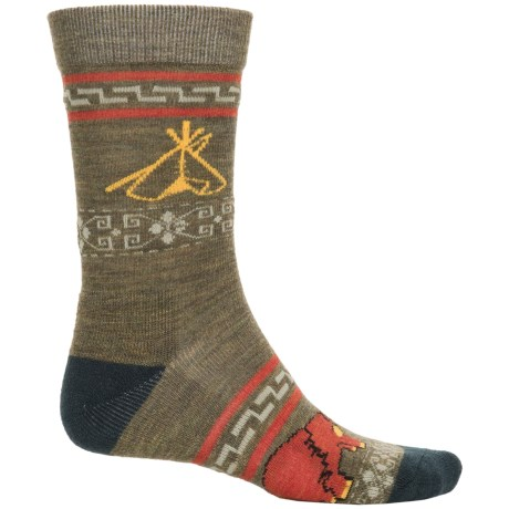 Pendleton Camp Socks - Merino Wool, Crew (For Men and Women) in Loden/Green