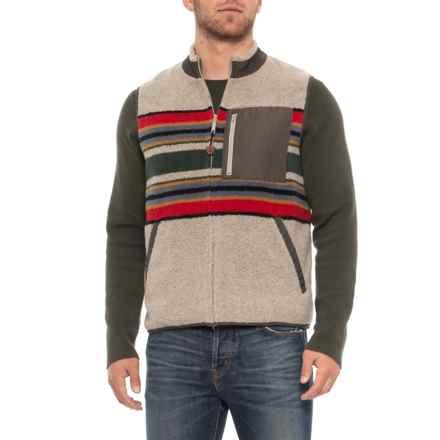 Pendleton Camp Stripe Vest (For Men) in Mineral Umber - Overstock