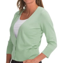 Pendleton Can-Do Cardigan Sweater- 3/4 Sleeve (For Women) in Mint - Closeouts