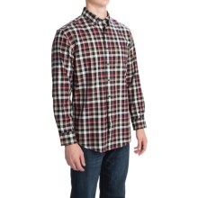 Pendleton Canterbury Cloth Shirt - Pima Cotton-Merino Wool, Long Sleeve (For Men) in Black/Red/Tan Check - Closeouts