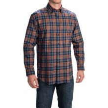 Pendleton Canterbury Cloth Shirt - Pima Cotton-Merino Wool, Long Sleeve (For Men) in Red/Navy Plaid - Closeouts