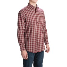 Pendleton Canterbury Cloth Shirt - Pima Cotton-Merino Wool, Long Sleeve (For Men) in Red Tattersall - Closeouts