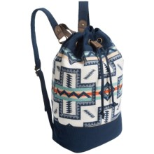 Pendleton Canvas Duffel Backpack (For Women) in Pueblo Cross - Closeouts