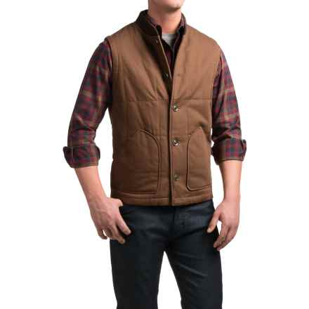 Pendleton Canvas Journey Vest - Insulated (For Men) in Brown - Closeouts