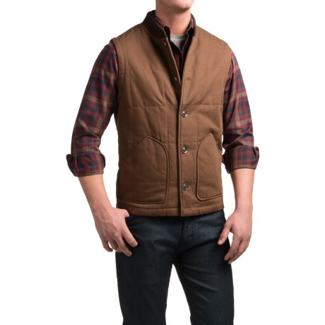 Pendleton Canvas Journey Vest - Insulated (For Men) in Brown
