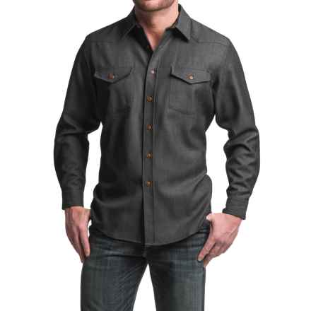 Pendleton Carson Worsted WoolDenim Shirt - Classic Fit, Long Sleeve (For Men) in Black Worsted Wooldenim - Closeouts