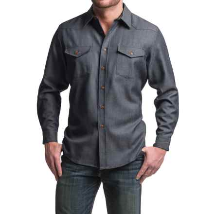 Pendleton Carson Worsted WoolDenim Shirt - Classic Fit, Long Sleeve (For Men) in Navy Worsted Wooldenim - Closeouts