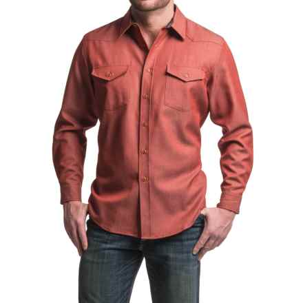 Pendleton Carson Worsted WoolDenim Shirt - Classic Fit, Long Sleeve (For Men) in Red Worsted Wooldenim - Closeouts