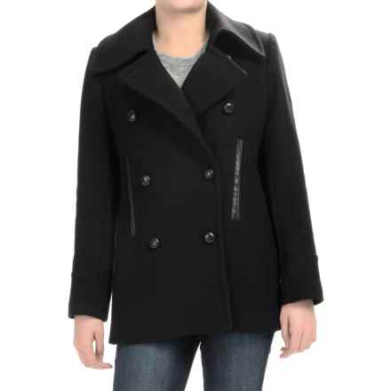 Pendleton Cascade Peacoat - Wool (For Women) in Black - Overstock