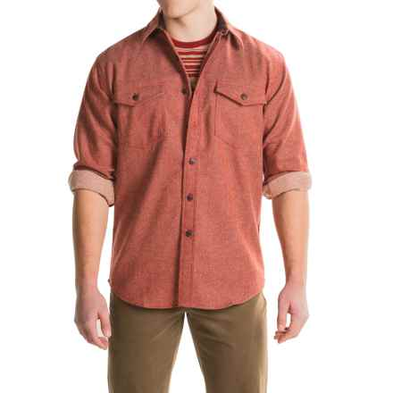 Pendleton Cascade WoolDenim Shirt - Long Sleeve (For Men) in Wool Denim Red - Closeouts
