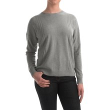 Pendleton Cashmere Jacquard Stitch Sweater (For Women) in Soft Grey Heather - Closeouts