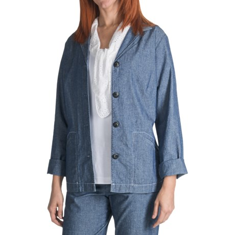 Pendleton Chambray Chic Jacket - Cotton (For Plus Size Women) in Chambray
