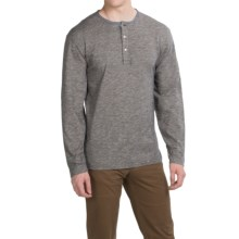 Pendleton Chambray Trim Henley Shirt - Long Sleeve (For Men) in Dark Indigo - Closeouts