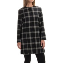 Pendleton Chelsea Jacket - Virgin Wool, Snap Front (For Women) in Black/Ivory Windowpane Plaid - Overstock