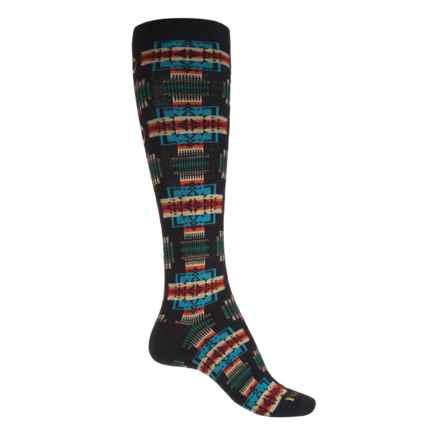 Pendleton Chief Joseph Socks - Merino Wool Blend, Over the Calf (For Women) in Black - Closeouts